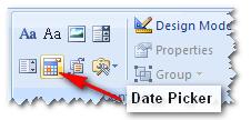 form input date picker